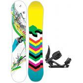 DC Ply Snowboard w/ K2 Charm Bindings