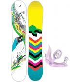 DC Ply Snowboard w/ Morrow Slider Bindings