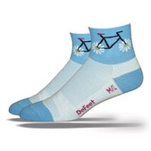 Defeet Women's Aireator Petal Power Blue Cycling Socks