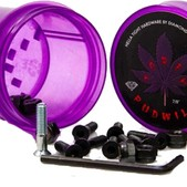 Diamond Torey Pudwill Allen Pudwill Allen with Purple Grinder Skateboard Hardware Set - 7/8""