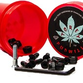 Diamond Torey Pudwill Allen Pudwill Allen with Red Grinder Skateboard Hardware Set w/ Red Grinder - 7/8""