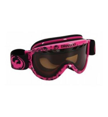 Dragon D1.XT Snowboard Goggles Pink Icon Logo/Jet Lens