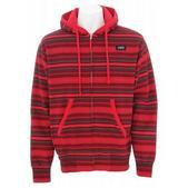 DVS Montoya Zip Hoodie Red Print