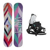 Elan LeLoo Blem Haylo Womens Snowboard and Binding Package