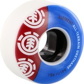 Element Section White / Blue / Red Skateboard Wheels - 54mm 95a (Set of 4)