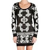 Element Womens Juniors Alps Long Sleeve Sweater Dress - Sale