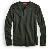 EMS Men's Rowan Waffle Henley Long-Sleeve Shirt - Size S