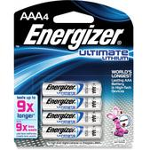 Energizer Lithium e2 AAA Batteries - 4 Pack