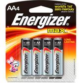 Energizer MAX Alkaline AA Batteries - Package of 4
