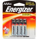 Energizer MAX Alkaline AAA Batteries - Package of 4