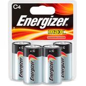 Energizer MAX Alkaline C Batteries - Package of 4