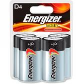 Energizer MAX Alkaline D Batteries - Package of 4