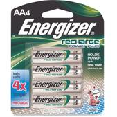 Energizer NiMH AA Rechargeable Batteries - Package of 4