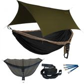 ENO Double Deluxe OneLink Sleep System - Khaki/Black With Olive Profly