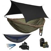 ENO Double Deluxe OneLink Sleep System - Khaki/Olive With Guardian SL & Black Profly