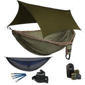 ENO Double Deluxe OneLink Sleep System - Khaki/Olive With Guardian SL & Olive Profly