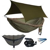 ENO Double Deluxe OneLink Sleep System - Khaki/Olive With Olive Profly