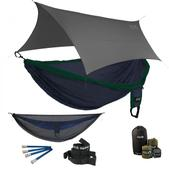ENO Double Deluxe OneLink Sleep System - Navy/Forest With Guardian SL & Grey Profly
