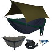 ENO Double Deluxe OneLink Sleep System - Navy/Forest With Olive Profly