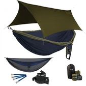 ENO Double Deluxe OneLink Sleep System - Navy/Olive With Guardian SL & Olive Profly
