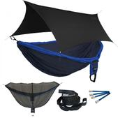 ENO Double Deluxe OneLink Sleep System - Navy/Royal With Black Profly