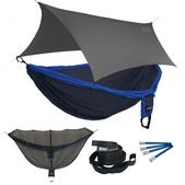 ENO Double Deluxe OneLink Sleep System - Navy/Royal With Grey Profly