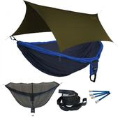 ENO Double Deluxe OneLink Sleep System - Navy/Royal With Olive Profly