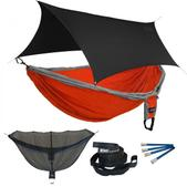 ENO Double Deluxe OneLink Sleep System - Orange/Silver With Black Profly