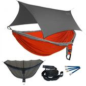 ENO Double Deluxe OneLink Sleep System - Orange/Silver With Grey Profly