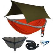 ENO Double Deluxe OneLink Sleep System - Orange/Silver With Olive Profly