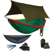 ENO Double Deluxe OneLink Sleep System - Rasta With Guardian SL & Olive Profly