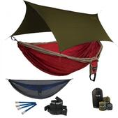 ENO Double Deluxe OneLink Sleep System - Tomato/Khaki With Guardian SL & Olive Profly