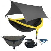 ENO DoubleNest OneLink Sleep System - Black/Yellow With Grey Profly
