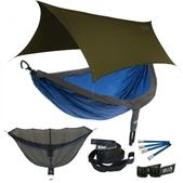 ENO DoubleNest OneLink Sleep System - Charcoal/Royal With Olive Profly