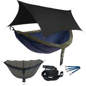 ENO DoubleNest OneLink Sleep System - Navy/Olive With Black Profly