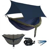 ENO DoubleNest OneLink Sleep System - Navy/Olive With Navy Profly