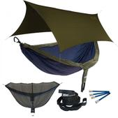 ENO DoubleNest OneLink Sleep System - Navy/Olive With Olive Profly