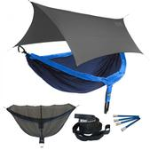 ENO DoubleNest OneLink Sleep System - Navy/Royal With Grey Profly