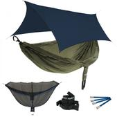 ENO DoubleNest OneLink Sleep System - Olive/Olive With Guardian SL & Navy Profly