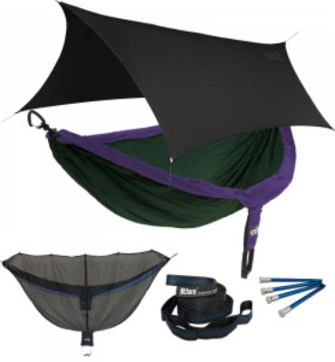ENO DoubleNest OneLink Sleep System - Purple/Forest With Black Profly