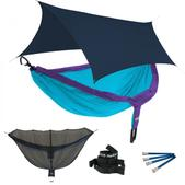 ENO DoubleNest OneLink Sleep System - Purple/Teal With Guardian SL & Navy Profly