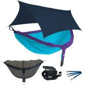 ENO DoubleNest OneLink Sleep System - Purple/Teal With Navy Profly