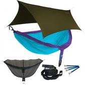 ENO DoubleNest OneLink Sleep System - Purple/Teal With Olive Profly