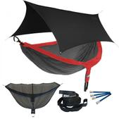 ENO DoubleNest OneLink Sleep System - Red/Charcoal With Black Profly