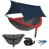 ENO DoubleNest OneLink Sleep System - Red/Charcoal With Navy Profly