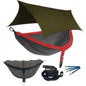 ENO DoubleNest OneLink Sleep System - Red/Charcoal With Olive Profly