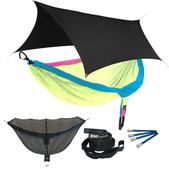 ENO DoubleNest OneLink Sleep System - Retro - Tri Colored With Black Profly