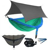 ENO DoubleNest OneLink Sleep System - Royal/Emerald With Grey Profly