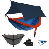 ENO DoubleNest OneLink Sleep System - Sapphire/Orange With Guardian SL & Navy Profly
