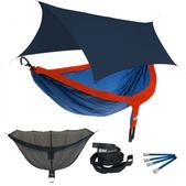 ENO DoubleNest OneLink Sleep System - Sapphire/Orange With Navy Profly